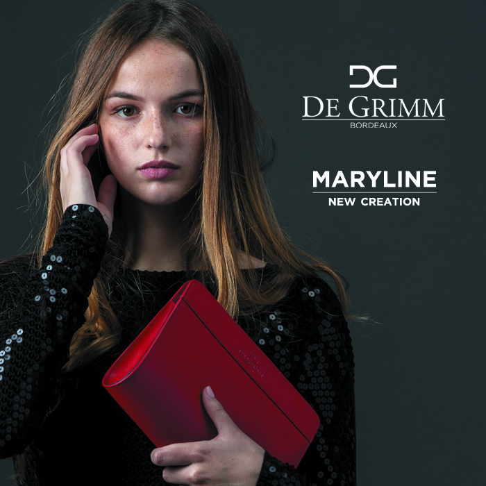 New luxury clutch De Grimm Maryline