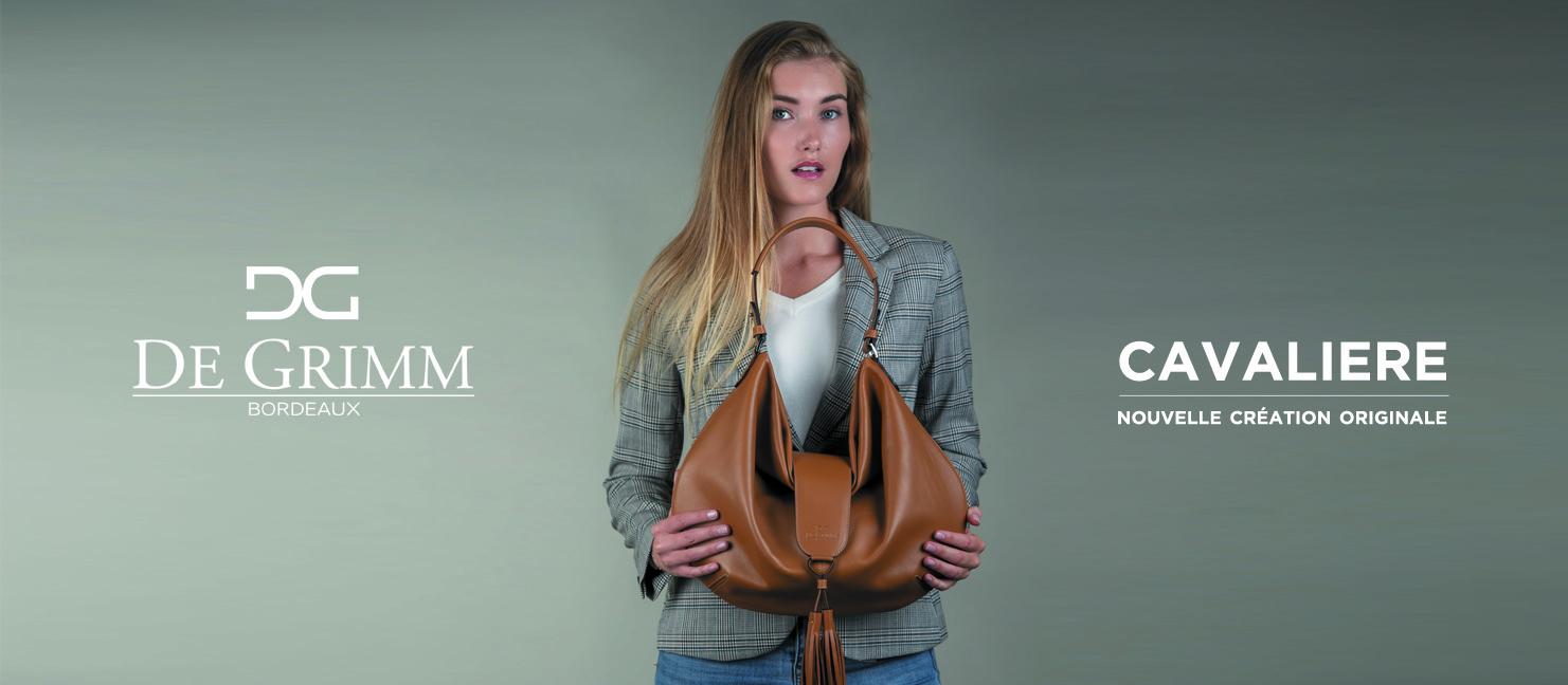 Nouveau sac porté épaule souple de luxe De Grimm Cavalière
