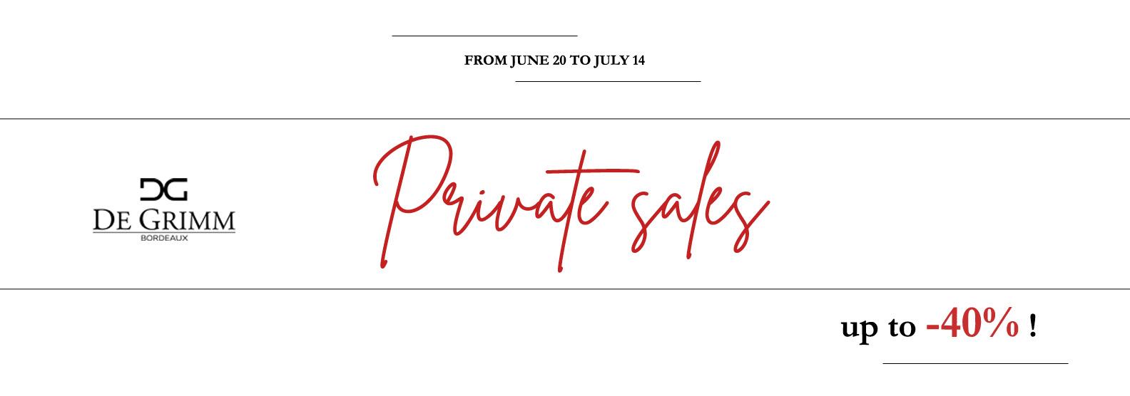 Private sale Summer 2020