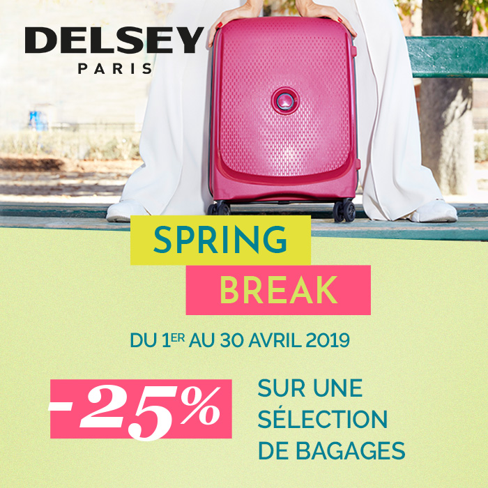 Promotion Delsey Spring break 2019