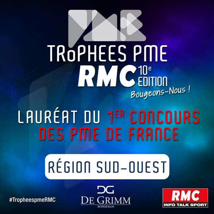 De Grimm won the regional edition of the RMC SMB trophy in the artisan category for the South-West of France